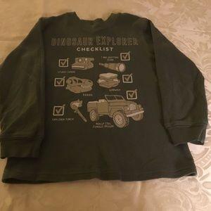 Carter's Boys Dinosaur Explorer Green Shirt  4T